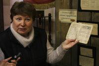 Афанасьева Татьяна Геннадиевна, руководитель Печорского Мемориала на выставке, посвященной репрессиям, организованной Мемориалом