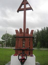 Памятник  политическим заключенным Севдвинлага в г. Вельске