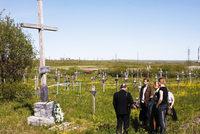 Кладбище, на котором похоронены восставшие в лагере в 1953 году
