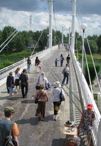Мост через р. Урал в Зауральную рощу